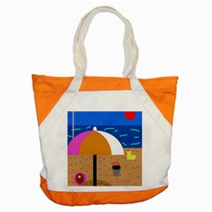 On the beach  Accent Tote Bag
