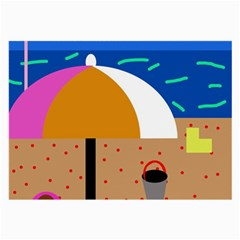 On the beach  Large Glasses Cloth (2-Side)