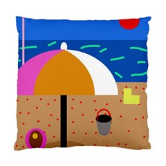 On the beach  Standard Cushion Case (One Side)