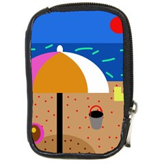 On the beach  Compact Camera Cases