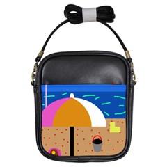 On the beach  Girls Sling Bags