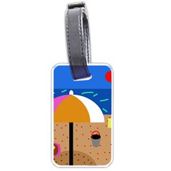 On the beach  Luggage Tags (One Side)