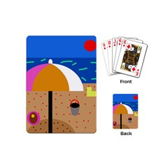 On the beach  Playing Cards (Mini)