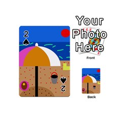 On the beach  Playing Cards 54 (Mini)