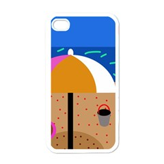 On the beach  Apple iPhone 4 Case (White)