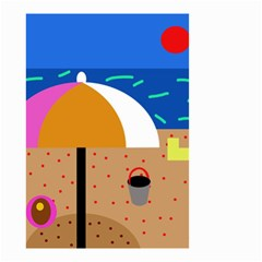 On the beach  Small Garden Flag (Two Sides)