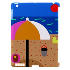 On the beach  Apple iPad 3/4 Hardshell Case (Compatible with Smart Cover)