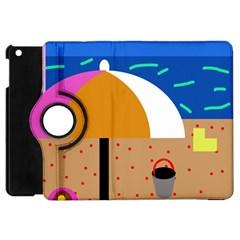 On the beach  Apple iPad Mini Flip 360 Case