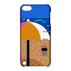 On the beach  Apple iPod Touch 5 Hardshell Case with Stand