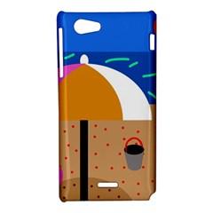 On the beach  Sony Xperia J