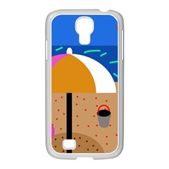 On the beach  Samsung GALAXY S4 I9500/ I9505 Case (White)