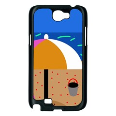On the beach  Samsung Galaxy Note 2 Case (Black)