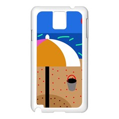 On the beach  Samsung Galaxy Note 3 N9005 Case (White)