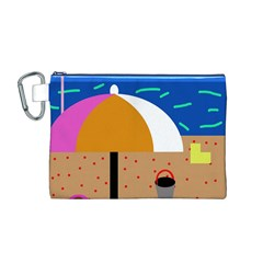 On the beach  Canvas Cosmetic Bag (M)