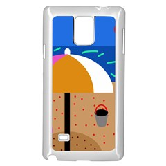 On the beach  Samsung Galaxy Note 4 Case (White)