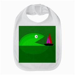 Green monster fish Bib
