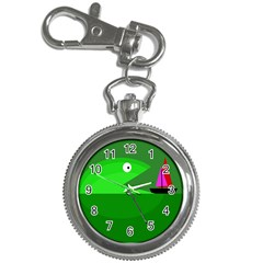 Green monster fish Key Chain Watches