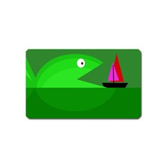 Green monster fish Magnet (Name Card)