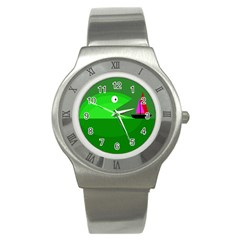 Green monster fish Stainless Steel Watch