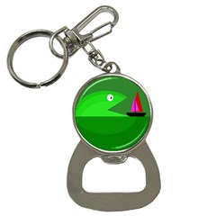 Green monster fish Bottle Opener Key Chains