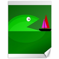 Green monster fish Canvas 36  x 48