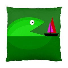 Green monster fish Standard Cushion Case (One Side)