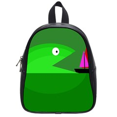 Green monster fish School Bags (Small)