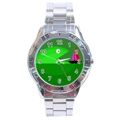 Green monster fish Stainless Steel Analogue Watch