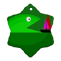 Green monster fish Ornament (Snowflake)