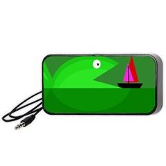 Green monster fish Portable Speaker (Black)