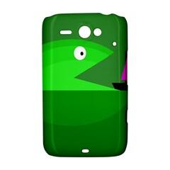 Green monster fish HTC ChaCha / HTC Status Hardshell Case