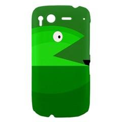 Green monster fish HTC Desire S Hardshell Case