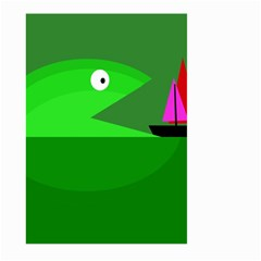 Green monster fish Large Garden Flag (Two Sides)