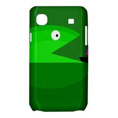 Green monster fish Samsung Galaxy SL i9003 Hardshell Case