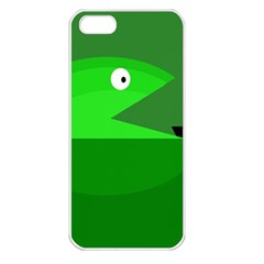 Green monster fish Apple iPhone 5 Seamless Case (White)