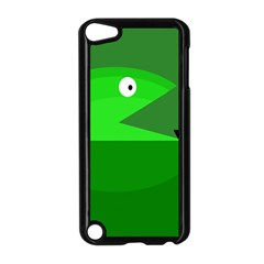 Green monster fish Apple iPod Touch 5 Case (Black)