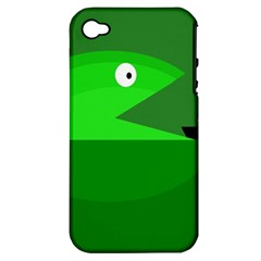 Green monster fish Apple iPhone 4/4S Hardshell Case (PC+Silicone)
