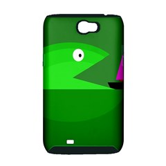 Green monster fish Samsung Galaxy Note 2 Hardshell Case (PC+Silicone)
