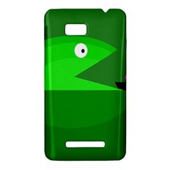 Green monster fish HTC One SU T528W Hardshell Case