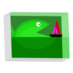 Green monster fish 5 x 7  Acrylic Photo Blocks