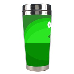 Green monster fish Stainless Steel Travel Tumblers
