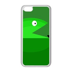 Green monster fish Apple iPhone 5C Seamless Case (White)
