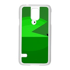 Green monster fish Samsung Galaxy S5 Case (White)