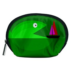 Green monster fish Accessory Pouches (Medium)