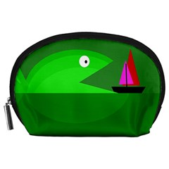 Green monster fish Accessory Pouches (Large)
