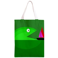 Green monster fish Classic Light Tote Bag