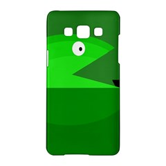Green monster fish Samsung Galaxy A5 Hardshell Case
