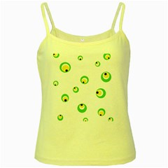 Green Eyes Yellow Spaghetti Tank