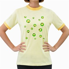 Green eyes Women s Fitted Ringer T-Shirts