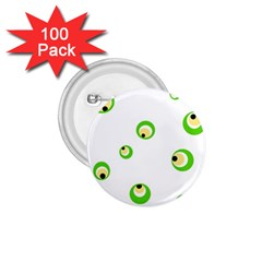 Green eyes 1.75  Buttons (100 pack)
